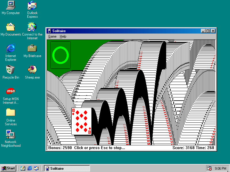 Windows 98 Solitaire Grab