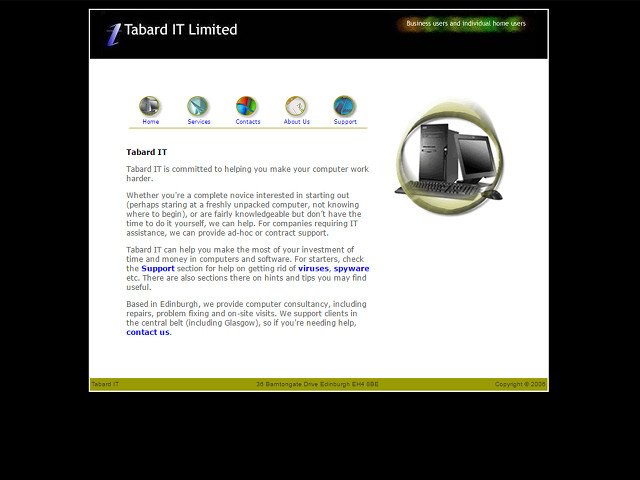 Tabard IT 2002 website