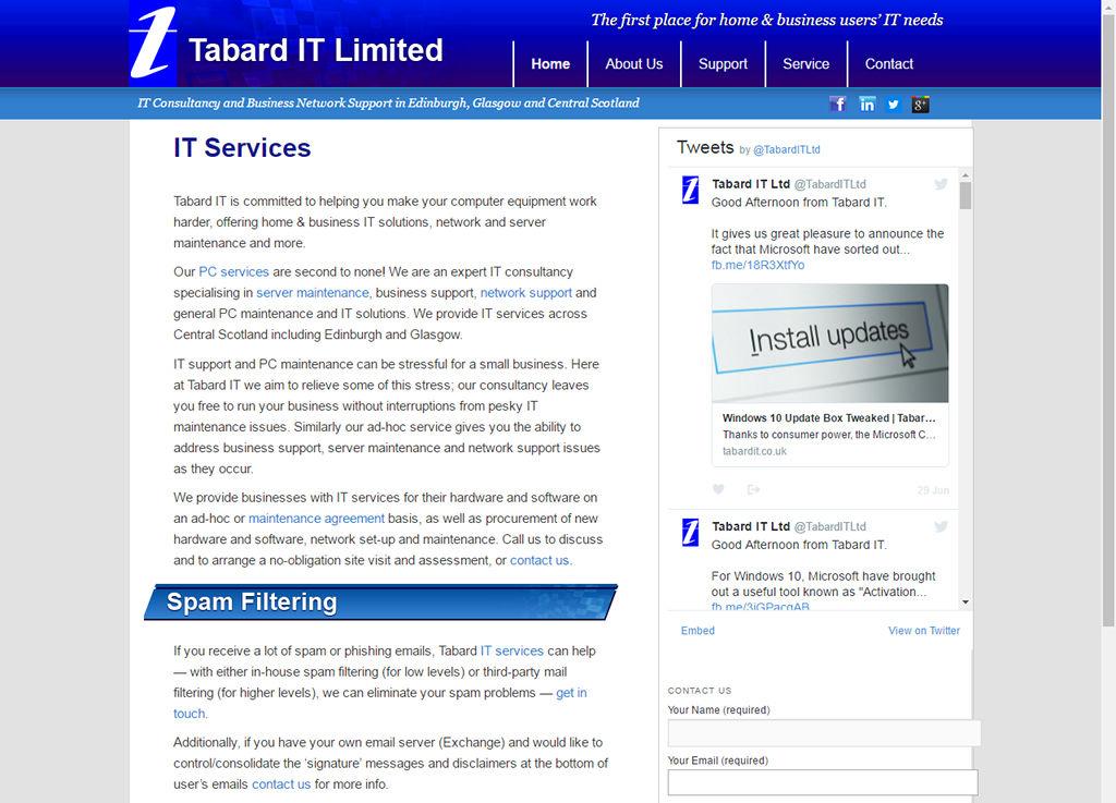 Tabard IT 2014 Website