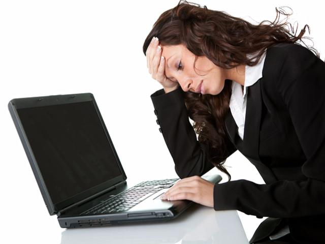 IT services crashed laptop image.