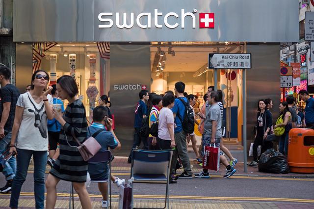 Swatch Shop, Hong Kong. Image by Pio3 (via Shutterstock).